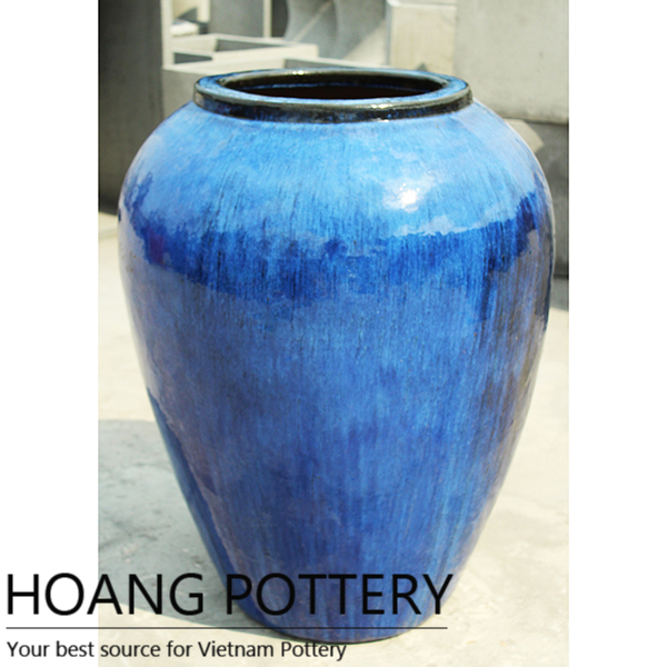 Belly shape Glazed Planter (HPAN016)