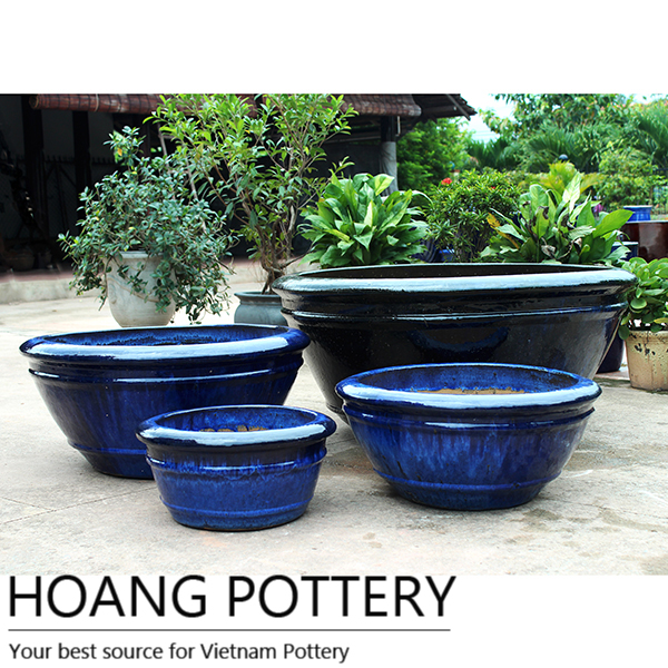 vietnam pottery, vietnamese glazed pots and planters