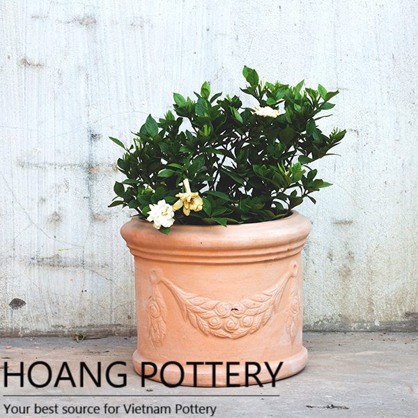 Hoang Pottery & Pattern Red Clay Garden Flower Pots (HPTC061)