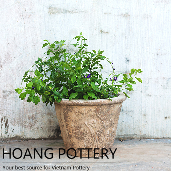 IMG_6767.jpg  sc 1 st  Hoang pottery & Antique Red Clay Flower Pot (HPTC005)