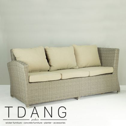 Sonoma Wicker Sofa 3 Seats Right hand (Code 3007)