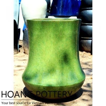 Contemporary Green Ceramic Flower Pots (HPAN045)