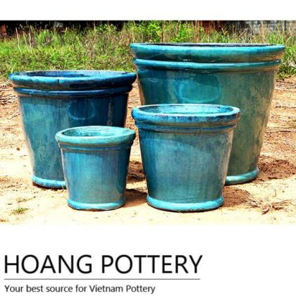 Vietnam Blue Ceramic Pots Outdoor (HPTH004)