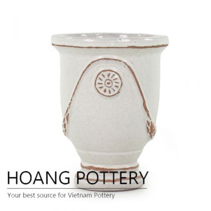Quality French Urn Ceramic Glazed Pots Outdoor (HPHA001)
