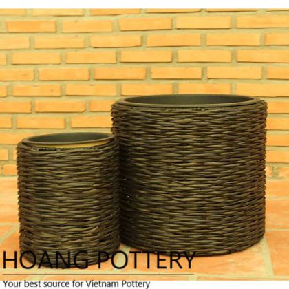 Quality Wicker Flower Planter Decor Indoor and Outdoor (HPW041)