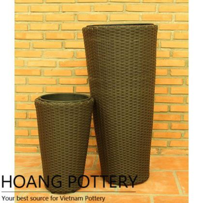 Tall Wicker Flower Decor inddor and outdoor (HPW045)