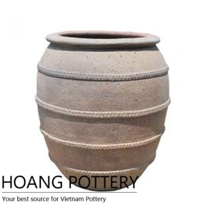 Antique Style Ceramic Oldstone Flower Pot (HPSB087)