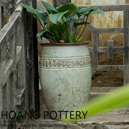 Antique Style Tall Shape Planter Decor (HPHP035)