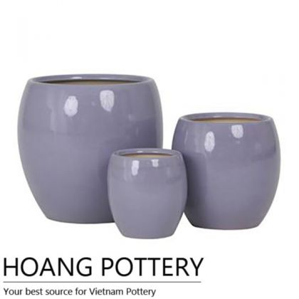 Egg Purple Pottery Bonsai Planter (HPIP012)