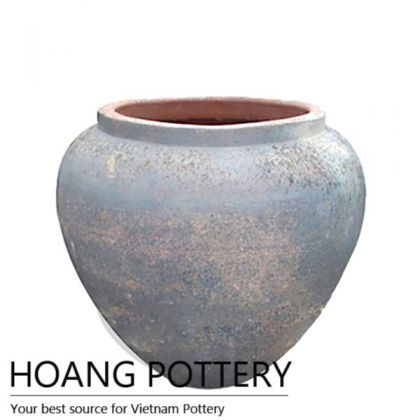 Round Sandblasted Flower Pot (HPSB082)