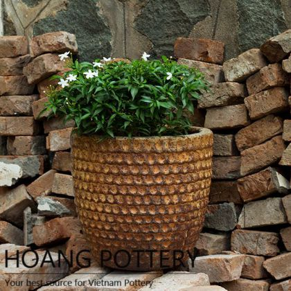 Rustic Flower Pot Outdoor Decor (HPHP009)