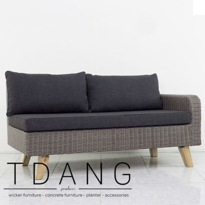 Torguta Wicker Right Hand Sofa 2 Seats (TD3033)