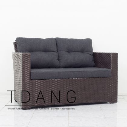 Kacos Wicker Sofa 2 Seats (Code 3065)