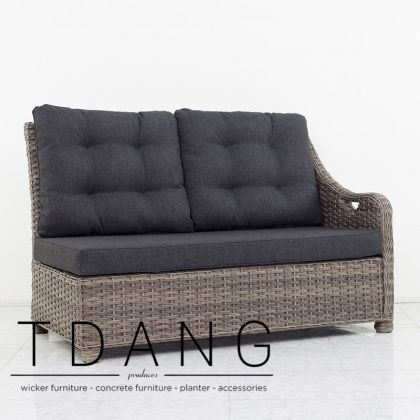 Hanover Wicker Left Hand Sofa (Code 3063)