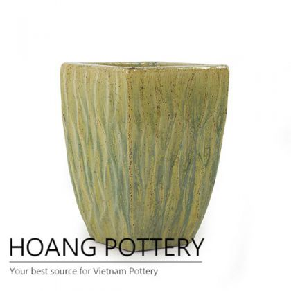 Low Square ceramic planter from Vietnam
