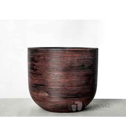 Brown wooden Cement pot