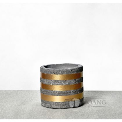 Golden ring cement cylinder Pots