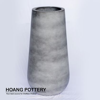 Grey Painting Cement Pot