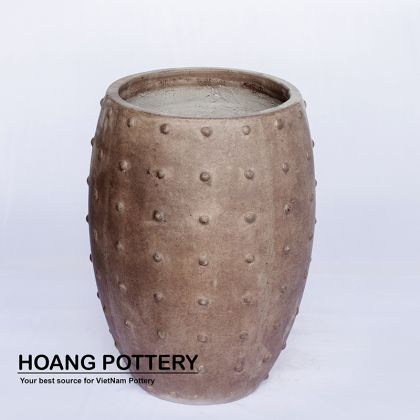 Brown Painting Cement Pot