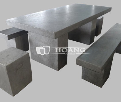 Cement tables and chairs