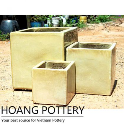 Square Ceramic Planters Outdoor (HPAN034)